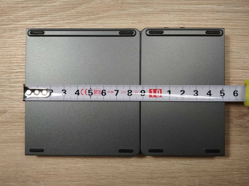 Szerokość złożonej mobilnej klawiatury składanej bluetooth