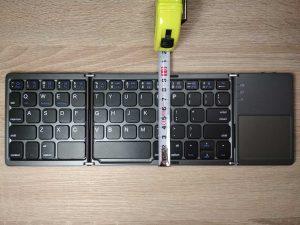 Wysokość mobilnej klawiatury składanej bluetooth